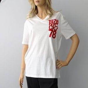 Calvin Klein Women's V-Neck T-Shirts White NWT